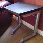 Steel side table.
